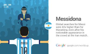 Photo: Messi's strikes to overtake Maradona. #GoogleTrends #WorldCup #ARG