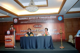 Photo: Dr. D. Pradeep Kumar, Conference Chair addressing at ICIMS Inaugural Function