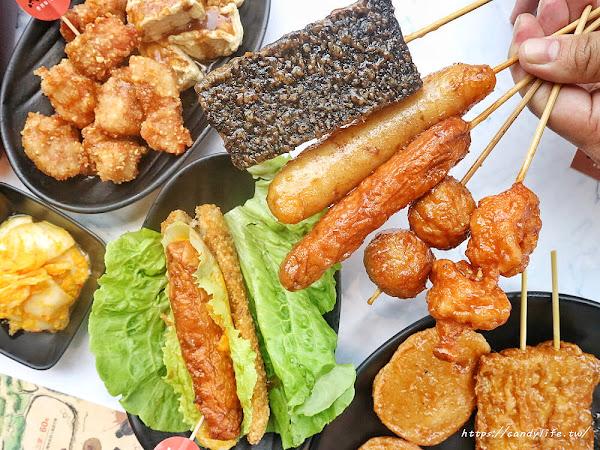 黑輪美夜市裡的創意美食,關東煮變成美味串炸,搭配獨門醬汁,不喝湯的炸黑輪就是狂!