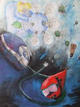 Photo: OGM, format raisin, technique mixte, 2009 L1 Art Plastique