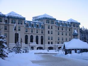 Photo: The Fairmont Chateau Lake Louise.
