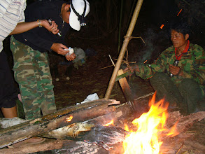 Photo: Cooking in Nam Ha Forest Camp