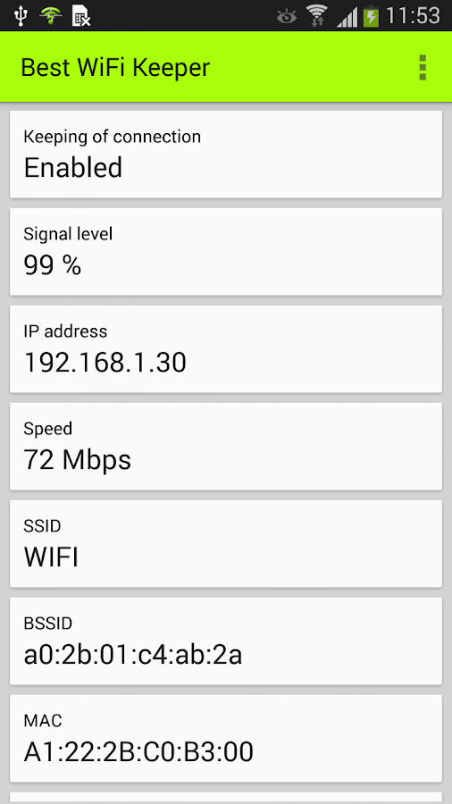 Best WiFi Keeper- screenshot