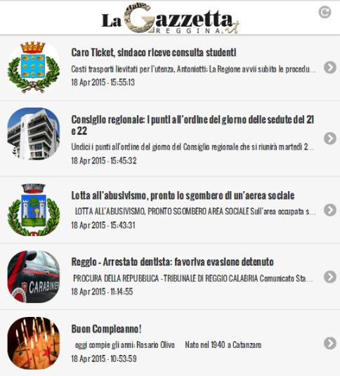 La Gazzetta Reggina- screenshot