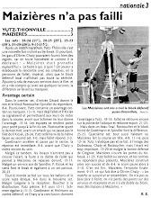Photo: 12-11-2011 4è tie-break de la saison, perdu contre Maizières