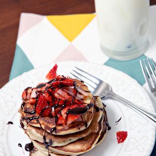 Strawberry Dark Chocolate Pancakes Recipe
