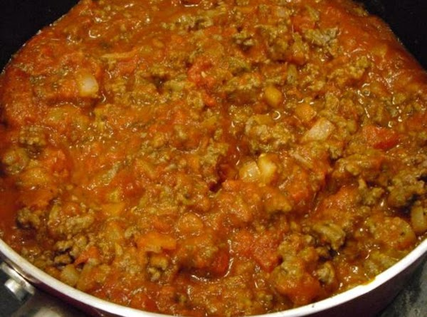Add the beef back to the skillet and add the marinara sauce.  Add...