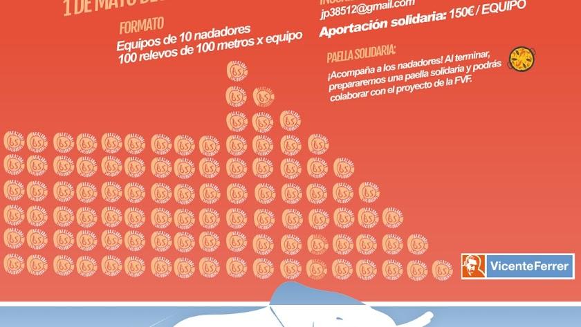 Cartel de Brazadas Solidarias.