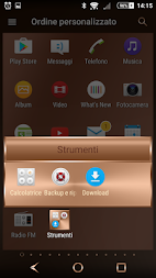 Shiny Copper Theme for Xperia APK screenshot thumbnail 1