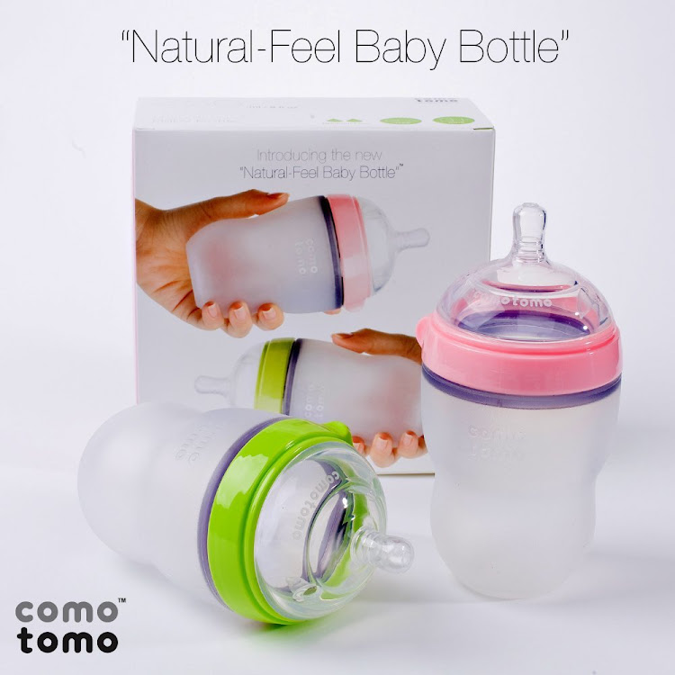 Comotomo Natural-Feel Silicone Baby 8oz Bottle - 2 Packs (Pink & Green) by GREEN WHEEL INTERNATIONAL SDN BHD