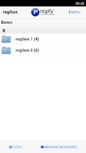 regibox Manager - náhled