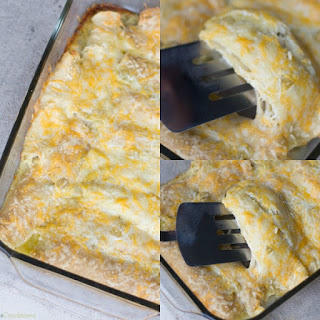 Easy Green Chili Chicken Enchiladas