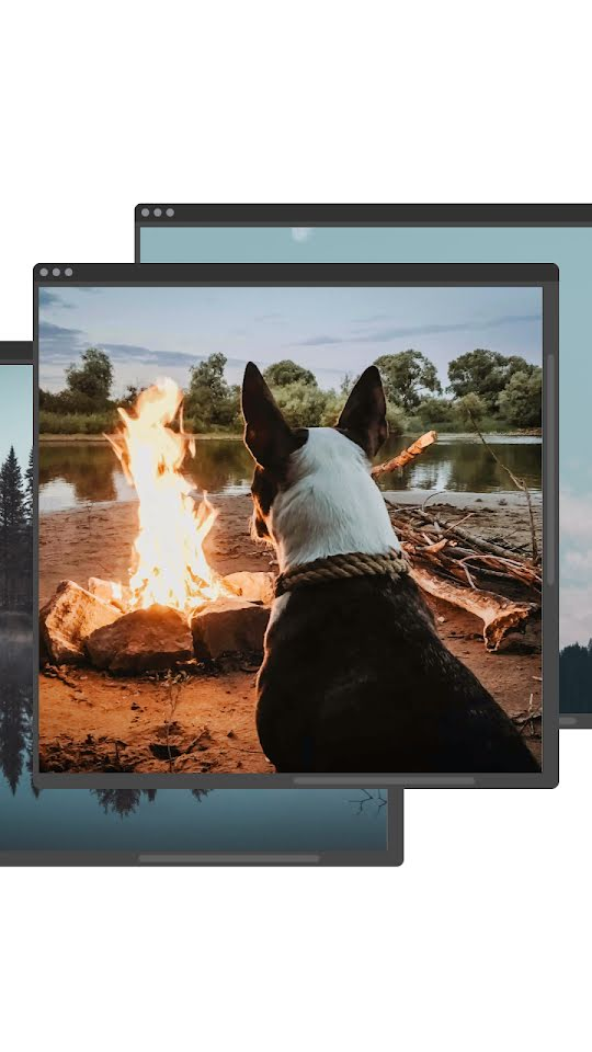 Fire Pit Window - Facebook Story Template