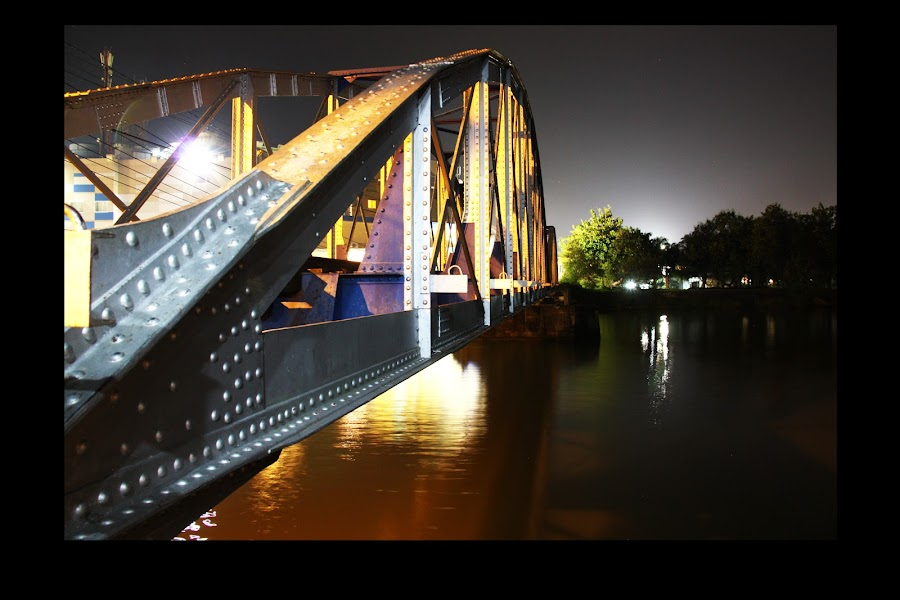 the train bridge and the river by Irfan Andariska - Buildings & Architecture Bridges & Suspended Structures