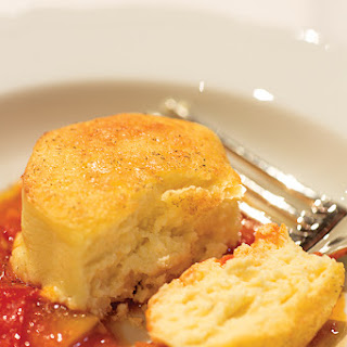 Pecorino Flans with Tomato Sauce (Pecorino Tortas con Salsa di Pomodoro)