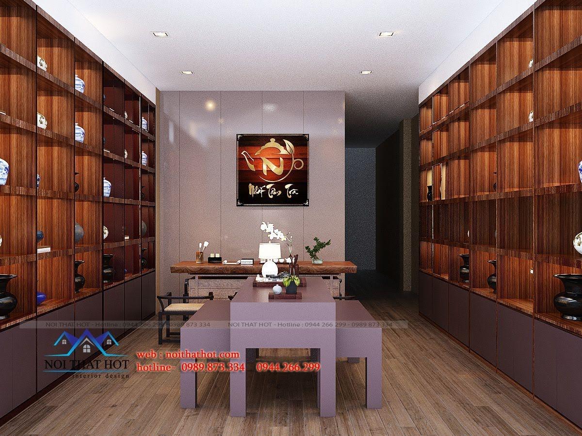 thiết kế quán trà đạo 2