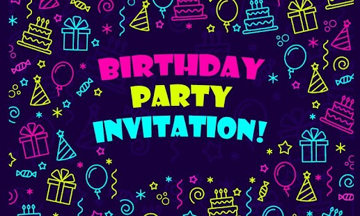 Party invitation cards android apps on google play party invitation cards screenshot thumbnail stopboris Choice Image
