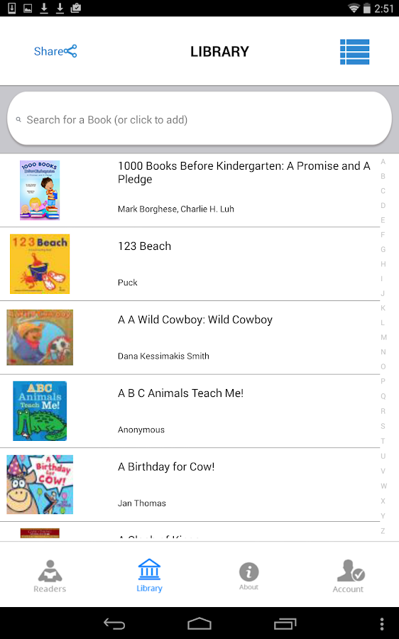 1000 Books Before Kindergarten- screenshot