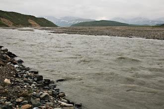 Photo: River near our lunch spot, Denali Park