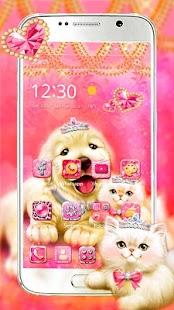 Cute Pinky Pets Theme - náhled