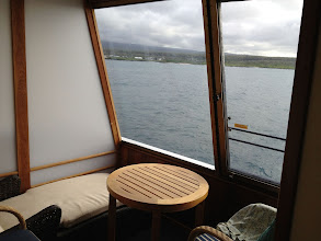 """Photo: Outside """"deck"""" on cabin 406"""