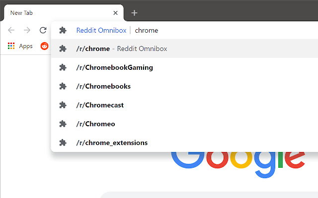 Reddit Omnibox