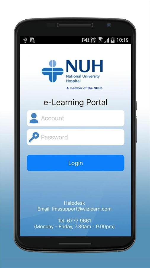 e-Learn@NUH- screenshot