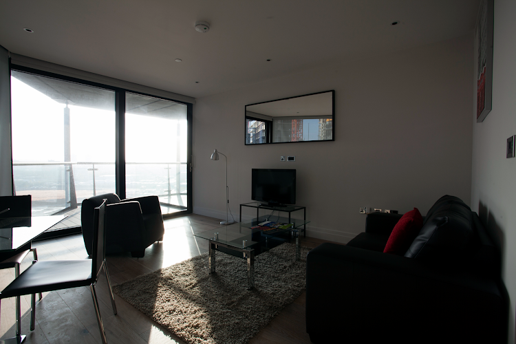 Living area at Riverlight Quay Apartments, Vauxhall