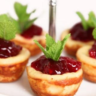 Mini Cherry Cheesecakes.