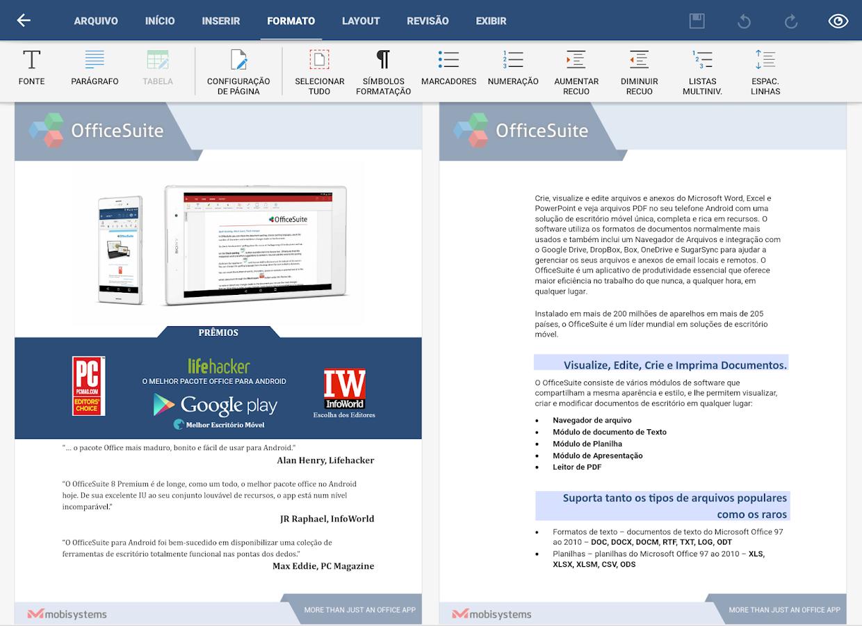 OfficeSuite Pro + PDF (Trial): captura de tela