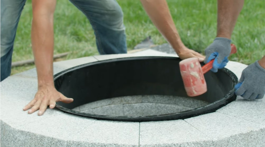 How to install a granite fire pit