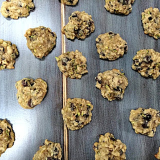 Dark Chocolate Zucchini Oat Cookies