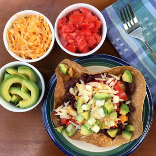 Quick and Easy Vegetarian Taco Salad with Cabbage.