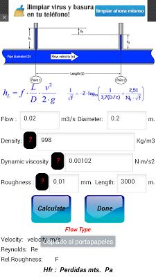 Pressure Drop Calculator - screenshot