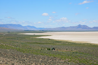 Photo: Alvord Desert and Steens Mountain (on left)