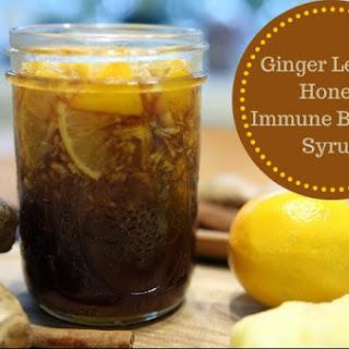 Ginger Lemon Honey Immune Booster Syrup Recipe