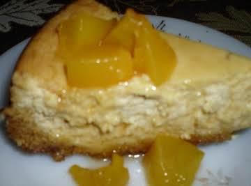 Fuzzy Navel Cheesecake (No Alcohol)