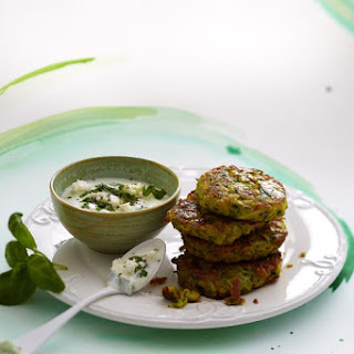 Chickpea Fritters with Yogurt Dip.