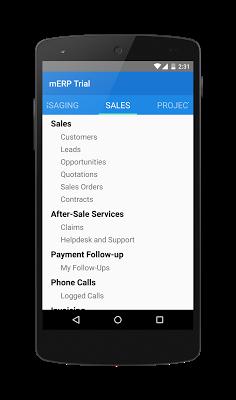 mERP (Odoo mobile) - screenshot
