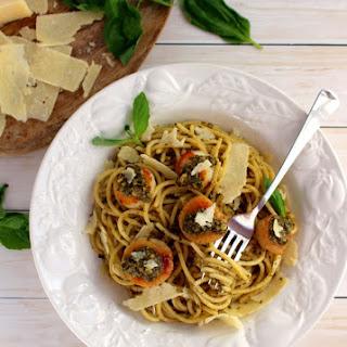 Easy Pesto Pasta with Scallops