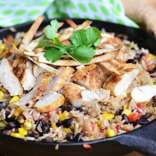 Chicken Tortilla Rice Skillet