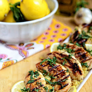 Grilled Lemon Basil Chicken