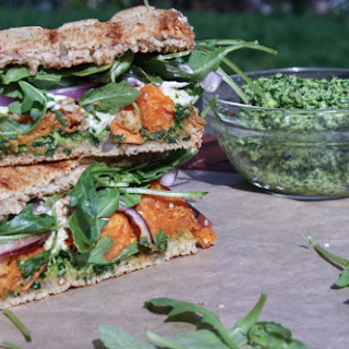 Sweet Potato Grilled Cheese Sandwich With Kale Pesto