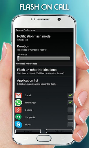 Flash Light on Call & SMS 1.2.1 screenshots 2