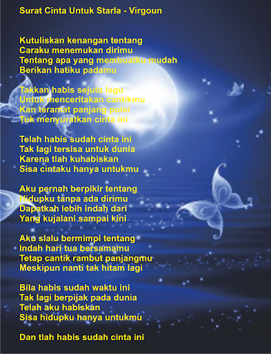 Download Lagu Virgoun Surat : download, virgoun, surat, Lirik, Surat, Cinta, Untuk, Starla