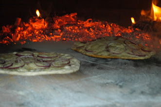 Photo: These are appetizer pizza bases. They come out and we add smoked salmon and dill cream.