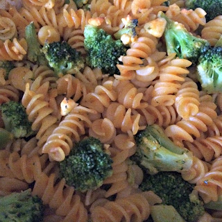 Vegetarian Buffalo Broccoli Pasta