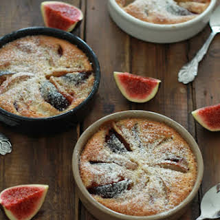 Pear And Fig Gratins With Hazelnut Cream.
