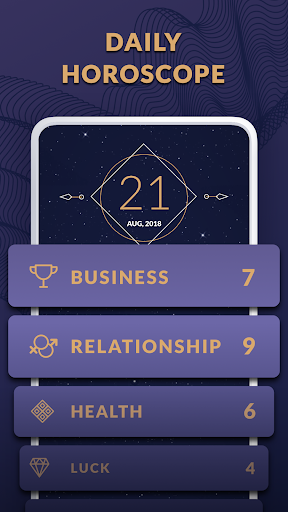 Screenshot for Horoscope 2019 and Palmistry - Everyday Prediction in United States Play Store