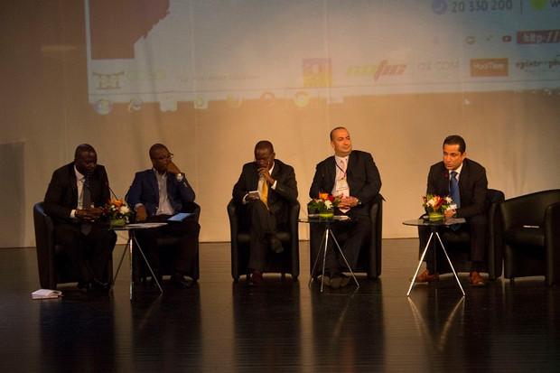 Patrick M'Bengue, modérateur lors d'un panel sur la mobilité